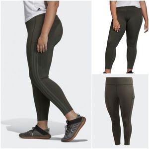 ADIDAS 3-stripes High Waist Women's 7/8 Tights 4X